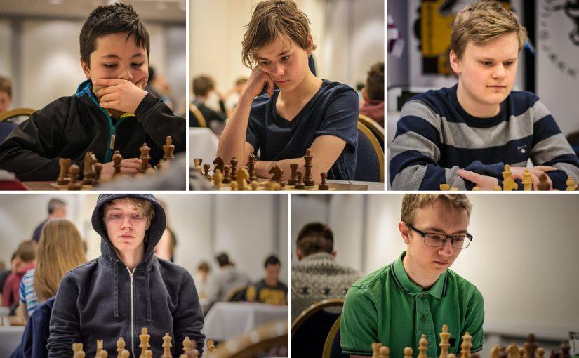De nordiske mestrene, øverst fra venstre: gruppe E, D, C. Nederst fra venstre gruppe B og A
